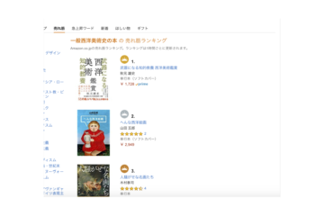 Amazon売れ筋ランキング 一般西洋美術史1位(著者 秋元雄史さん)